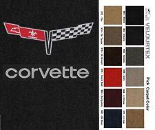 Lloyd Mats Corvette Crossed Flags & Word Velourtex Floor Mats (1980-1982)
