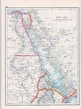 1912 MAP ~ RED SEA ~ EGYPT SUDAN ABYSSINIA ERITREA ARABIA