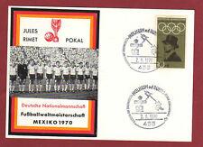 ORIG. no hasta etiquetas carta/tarjeta postal WM méxico 1970-Team alemania rara vez!!!