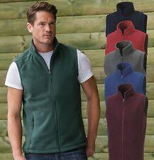 Russell Mens BLACK BLUE GREEN GREY RED Full Zip Fleece Gilet Bodywarmer Vest
