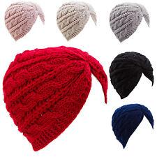 Turban femme bonnet retro bande-écharpe chaud chapeau tricot jersey neuf YF-0705