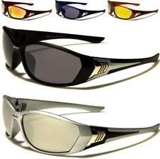 X-LOOP nuova linea uomo donna nero specchiato Wrap Sport Golf UV400 Occhiali da sole