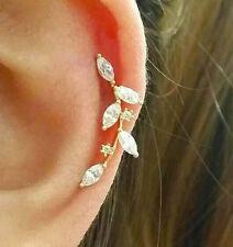 CZ Flower cartilage earring, fashion earrings, elegant ear sweeps ear Climbers