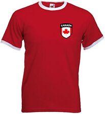 Canada Canadian Retro Football Ice Hockey National Team T-Shirt  - All Sizes