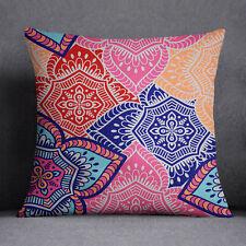 S4Sassy Decorative Floral Print Multicolor Cushion Case Square Pillow Cover