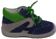 SUPERFIT Schuhe Lauflernschuhe Schnürer echt Leder Babyschuhe Blau Grau Grün NEU