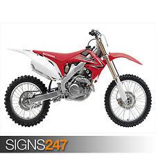 Honda CRF 450R Motocross (1643) Moto Poster-arte cartel impresión A1 A2 A3 A4