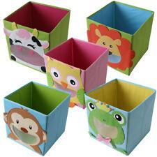 Faltbox Kinder Spielbox Tiermotiv Aufbewahrung Box Truhe Spielzeugkiste