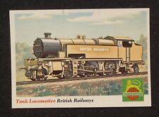 1950s T.C.G. Topps Railroad #19 Tank Steam Locomotive British Railways Train UK