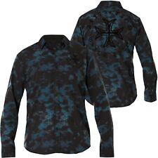 AFFLICTION Hemd Titan Blau Hemden
