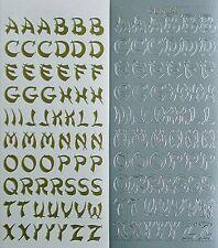 Oriental Uppercase ALPHABETS Letters PEEL OFF STICKERS Alphabet Capitals