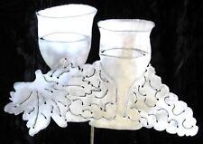 Wine Glasses Grapes Decor Metal Garden Yard Art Stake