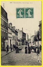cpa 94 - TEINTURERIE d' IVRY sur SEINE ( Val de Marne) Rue de LIÉGAT Animée RARE