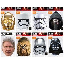 Star Wars Party Fancy Dress Masks Fun Celebration Darth Vader Phasma Han Solo