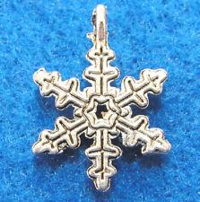10Pcs. Tibetan Silver Snowflake Charms Earring Drops Pendants Ch31