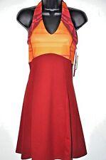 Mountain Hardwear dress Small empire waist Butter Halter Burgundy Orange New $69