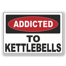 2 X 10cm drogata Kettlebells VINILE ADESIVO LAPTOP cartello di avvertimento REGALO # 6542