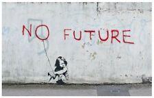 QUALITY BANKSY ART PHOTO PRINT (NO FUTURE)