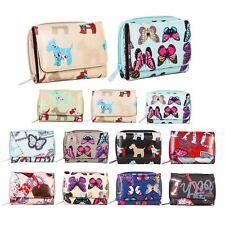 Nuove donne di buona qualità LADY'S tessuto incerato purse wallet FARFALLA Dog Design