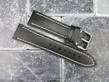 23mm VICTORINOX SWISS ARMY LEATHER STRAP Band Infantry Vintage Chronograph BK x1