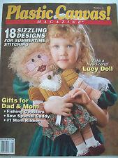 June 1991 Plastic Canvas Magazine Pattern Book #14 Doll Wedding Cake Tote Bear