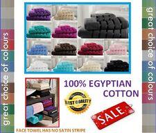 SATIN strisce asciugamani in cotone egiziano | faccia o a mano TELO Asciugamano da bagno Bagno Foglio