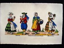 Vintage Imagerie Pellerin d'Epinal Costumes des Provinces Francaises Cards InvT