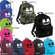 DJ Marshmello Face Mask Backpack Rucksack, Gamer EDM, DOCTOM School College Bag.