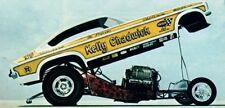 KELLY CHADWICK 1971 VEGA FC Yellow NHRA 1/32nd Scale Slot Car Waterslide Decals