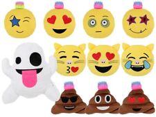 Cuscino decorativo peluche a vari modelli, emoji, fantasma, cacca, gatto