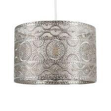 Moroccan Style Chrome Ceiling Pendant Light Shade Easy Fit Lighting LED Bulb