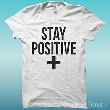 "T-SHIRT MAGLIA UOMO "" STAY POSITIVE "" IDEA REGALO ROAD TO HAPPINESS"
