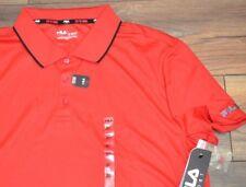 Fila Aderente Performance Rosso Polo Camicia da Golf Manica Corta Traspirante