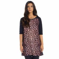 Haut femme imprimé animal bam bam. robe à manches courtes casual ladies Tiger NEUF