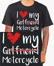 I love my Motorcycle camisa motocicleta bike Biker biken regalo t-shirt padre m236