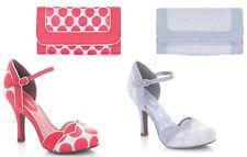 Ruby Shoo Phoebe Tacco Medio-bar Scarpe e importare Charleston Bag UK3-9 EU36-42