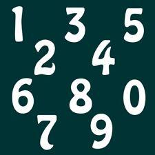 5 cm Zahlen Aufkleber Klebezahlen Ziffern Sticker 1 bis 200 Stück weiß SA-55