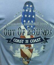 Mens T Shirt  American Flag USA Surf Surfboard Long board Surfing %100 COTTON