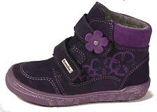 RICHTER Schuhe knöchelhohe Booties Lila Leder Klettverschluss Leder Sympatex NEU