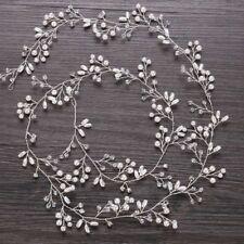Women Girl Bride Wedding Crystal Pearl Hair Band Garland Flower Headband Decor