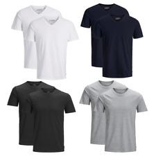 JACK & JONES Herren T-Shirt 2er Pack Basic O-Neck V-Neck Shirt