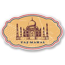 2 x Taj Mahal vinile adesivo iPad Laptop BAGAGLI ETICHETTA VINTAGE REGALO VIAGGI # britannica,