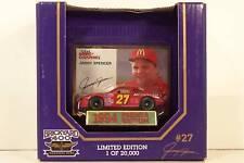 Racing Champions ~ Brickyard 400 ~ Jimmy Spencer ~ #27 McDonald's ~ 1/64