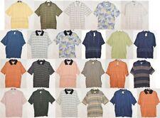 Nuevo Para hombres Smart Casual de Algodón Azul Marino Camiseta De Camisas Polo Negro Blanco Talla M L XL