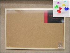 Tablero de corcho de aviso Memo de madera de pino boletín organizador de 40 X 60 cm + 5 Gratis Push Pin