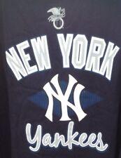New York YANKEES Majestic Shirt L/S Blue 2XLT 3XL 4XLT NEW AUTHENTICS