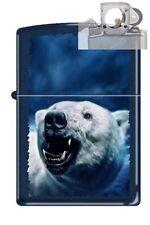 Zippo 0227 polar bear growling navy Lighter with PIPE INSERT PL