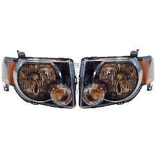 OEM NEW 2008-2011 Ford Escape SPORT Black Headlight SET