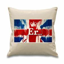 "Banksy Er… Union Jack 18"" x 18"" Filled Sofa Throw Cushion"