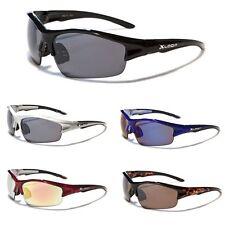 Mens Wrap Around Cycling Baseball Surf Ski Sunglasses Black Silver Sport Wraps